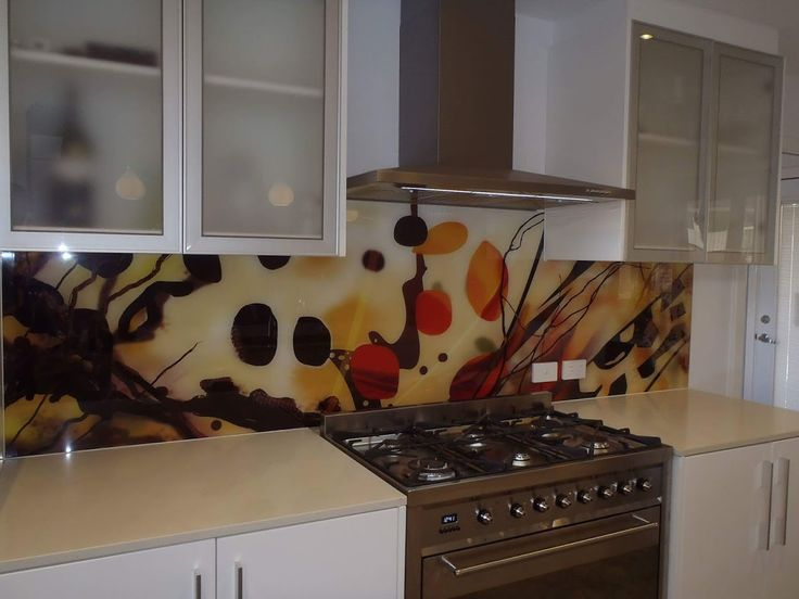 With the choice of printed glass splashbacks the only limit is your imagination ! This perth kitchen is now unique. www.asplashofglass.com.au