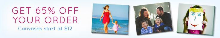 Get 65% Off Your Order - canvas prints