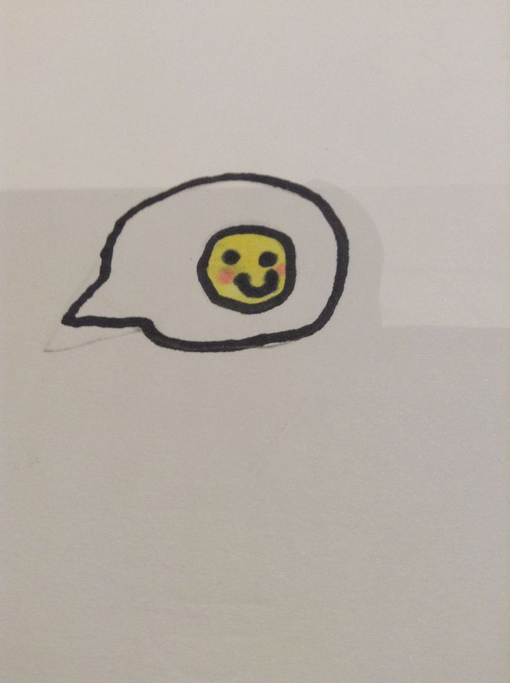 Cute emoji pic in a speech bubble, I didn't design this, found it on Pinterest!