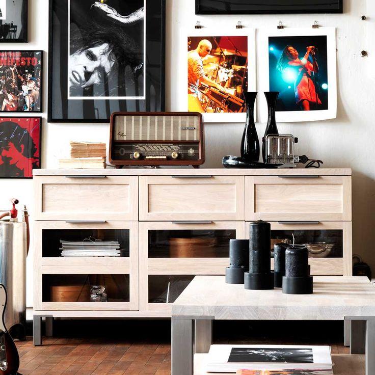 Die besten 25+ Sideboard aus massiver Eiche Ideen auf Pinterest - wohnzimmerschrank eiche rustikal