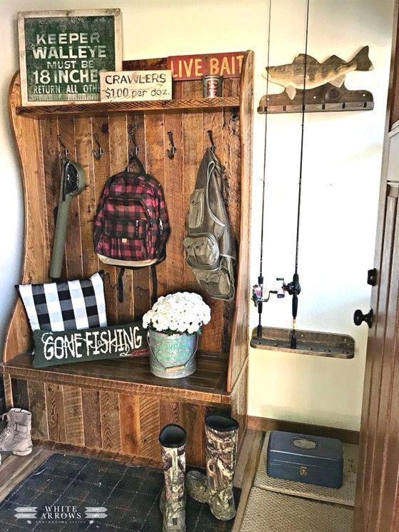 Pin By Rachel Indano On Living Room Fishing Cabin Decor Fishing Decor Fishing Room