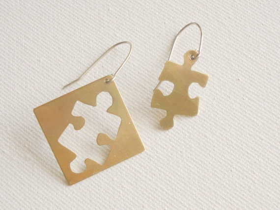 Mixed Metal Brass and Sterling Silver puzzle by PenelopeStudio, $29.00