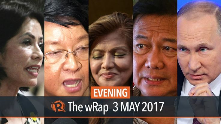 Lopez, Sotto, Trump   Evening wRap - WATCH VIDEO HERE -> http://dutertenewstoday.com/lopez-sotto-trump-evening-wrap/   Today on Rappler:  The Commission on Appointments rejects the appointment of Environment Secretary Gina Lopez after 3 confirmation hearings. Senator Tito Sotto insults Social Welfare Secretary Judy Taguiwalo's status as a solo parent during her confirmation hearing before the Commission...