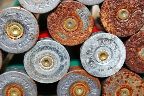 Shotgun Shell Art Wall Decor Rusted Bullets Man by LongForgotten