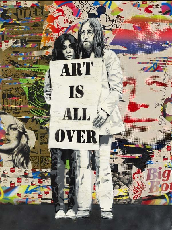 Another piece by mr brainwash with John Lennon. x