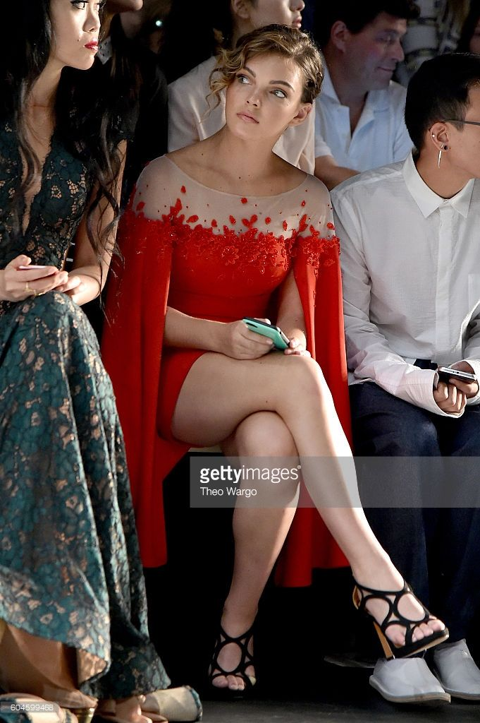 Actress Camren Bicondova attends the Lanyu fashion show during the September 2016 New York Fashion Week: The Shows at The Dock, Skylight at Moynihan Station on September 13, 2016 in New York City.