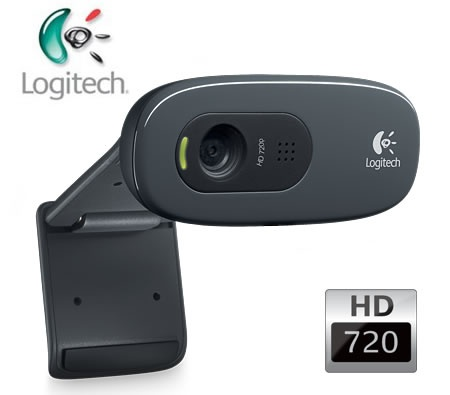 Logitech C270 HD 3-Megapixel Webcam HD 720p Video Calling Free Video Editing Software