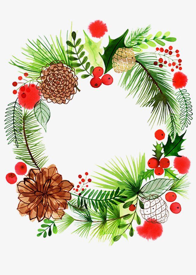 L'élément De Couronne De Noël | Illustration noel, Dessin noel