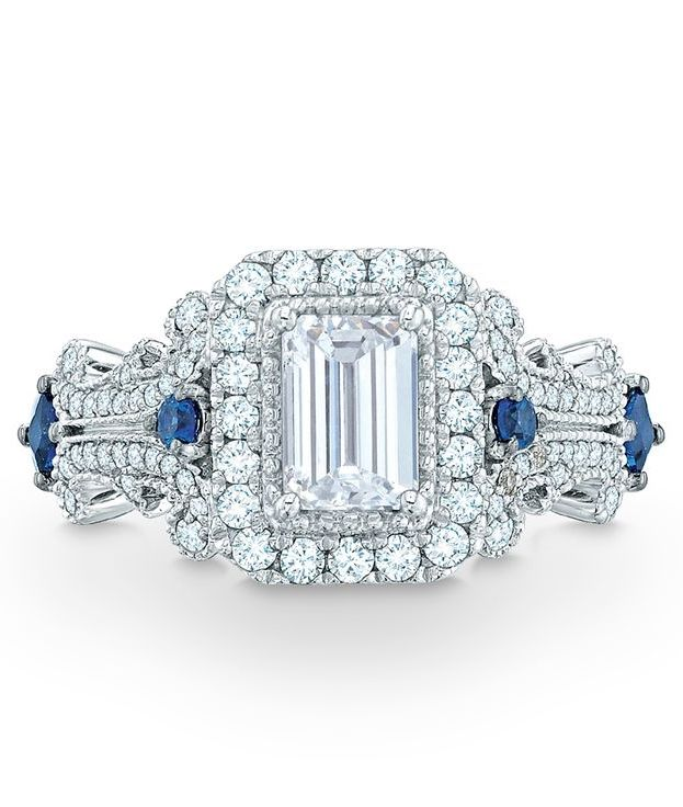 vera wang collection 1 1 8 ct t w emerald cut