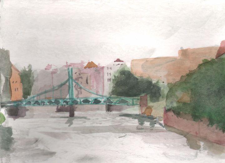 Bridge in Wroclav, 18x25 cm, 2014