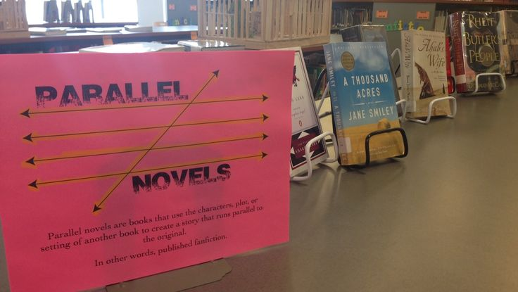 Parallel novels use the plots, characters, or settings of other novels. It's fancy fanfiction. (February 2015)