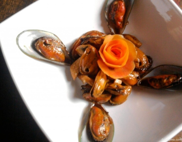 Green Mussels Adobo (Adobong Tahong)