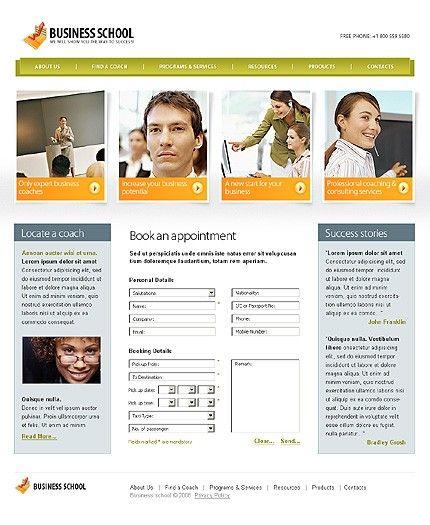 Business School Website Templates by Modlin