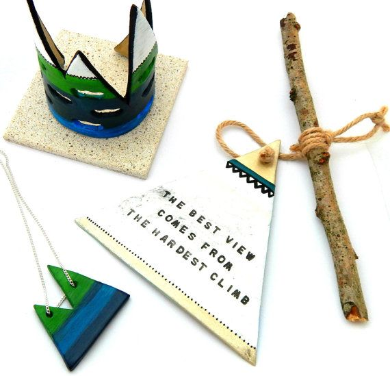 Mountain Quote Travel Gift Wanderlust Gift by TheMintyMountain