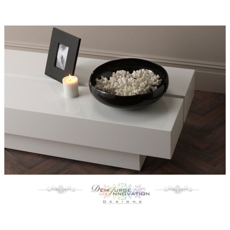Contemporary Lacquer Art Coffee Table - Available In 4 Colours #White #Taupe #Grey #Black #Furniture #InteriorDesign #LuxuryLiving #Inspire_Me_Home_Decor #DemiurgeInnovationDesigns Email For Prices