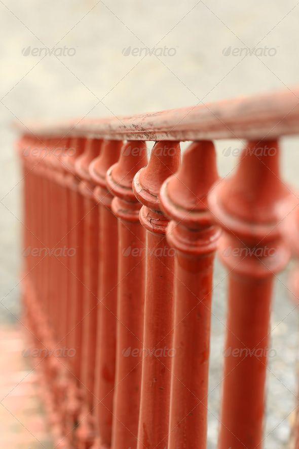 Vintage balustrade blurry background