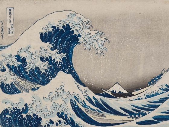 Katsushika Hokusai, Under the Wave off Kanagawa  also known  as the Great Wave, from the series Thirty-six Views of Mount Fuji  ( about 1830–31) Museum of Fine Arts in Boston