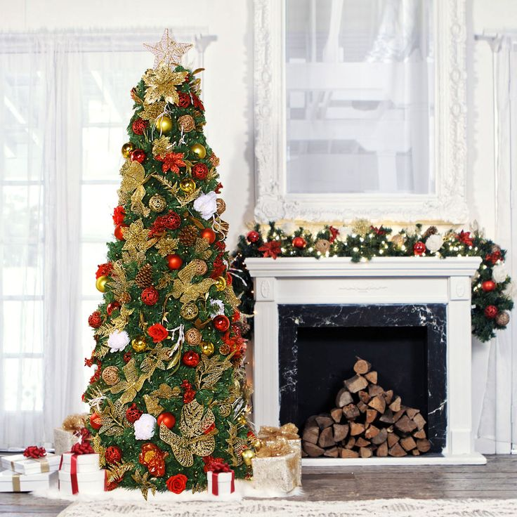 The worlds simplest pre-lit and pre-decorated Christmas Tree.  HISTORIC COLLECTION: Magnificent and heartwarming holiday tree, decorated with the shiniest lighting, and the most breath taking decor any one has ever seen.Truly an unforgettable historic holiday experience steeped in tradition.