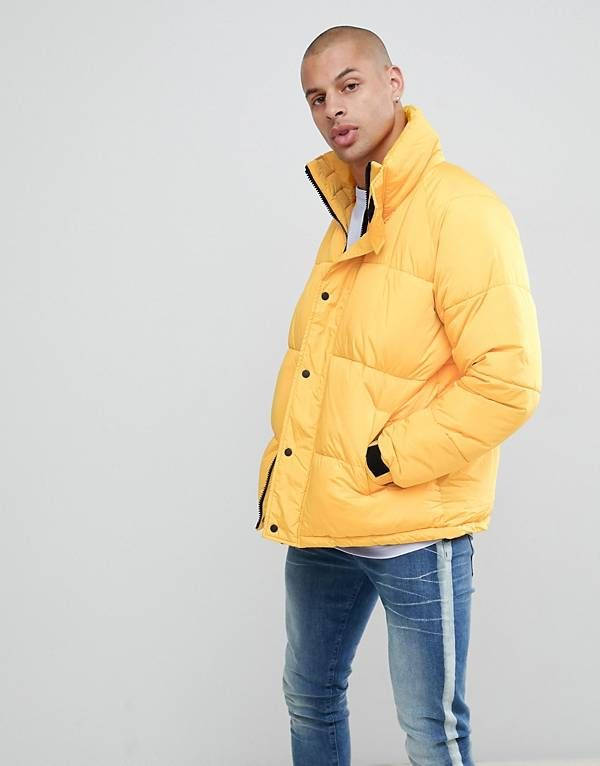 save up to 80% innovative design another chance River Island Puffer in bright yellow | Mens winter coat, Mens ...