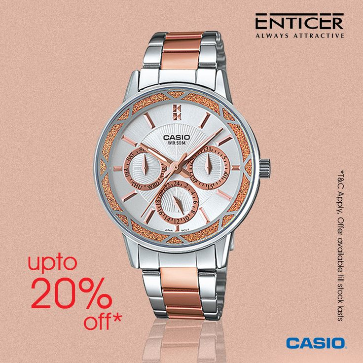 Upto 20% off on ‪#‎Casio‬ Enticer Collection!!