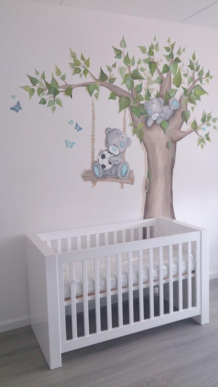 Me to you beertjes boom muurschildering pinterest - Deco kamer bebe blauw ...