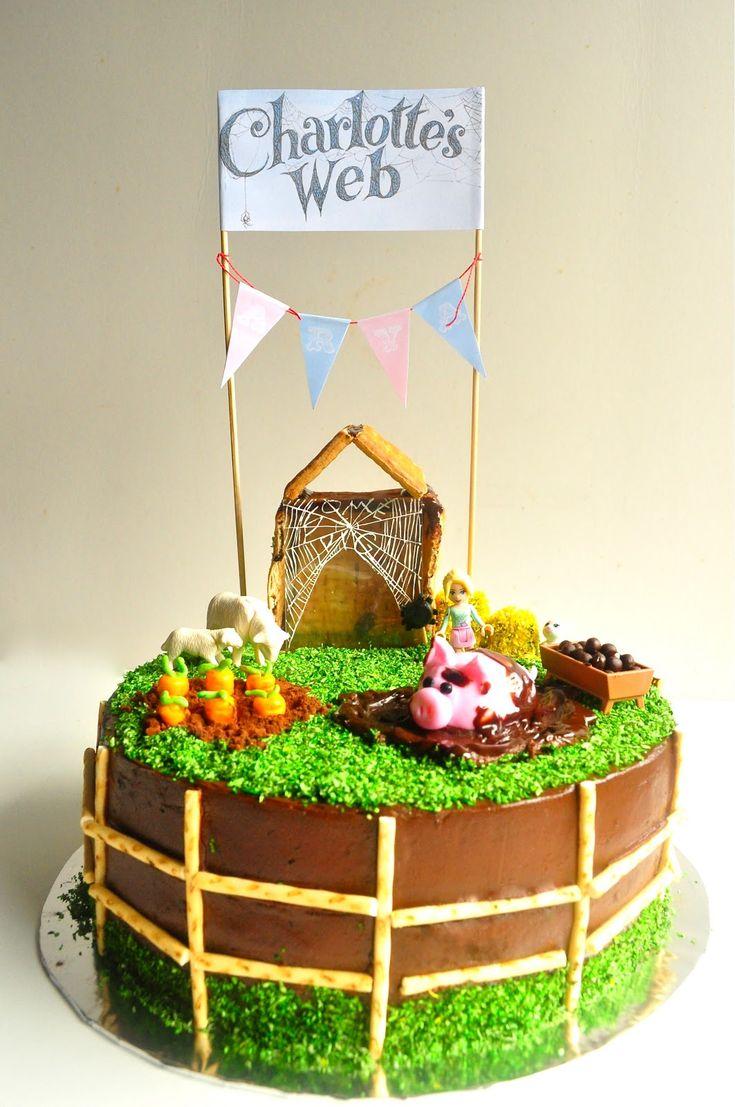 a spoonful of sugah: Charlotte's Web Birthday Cake