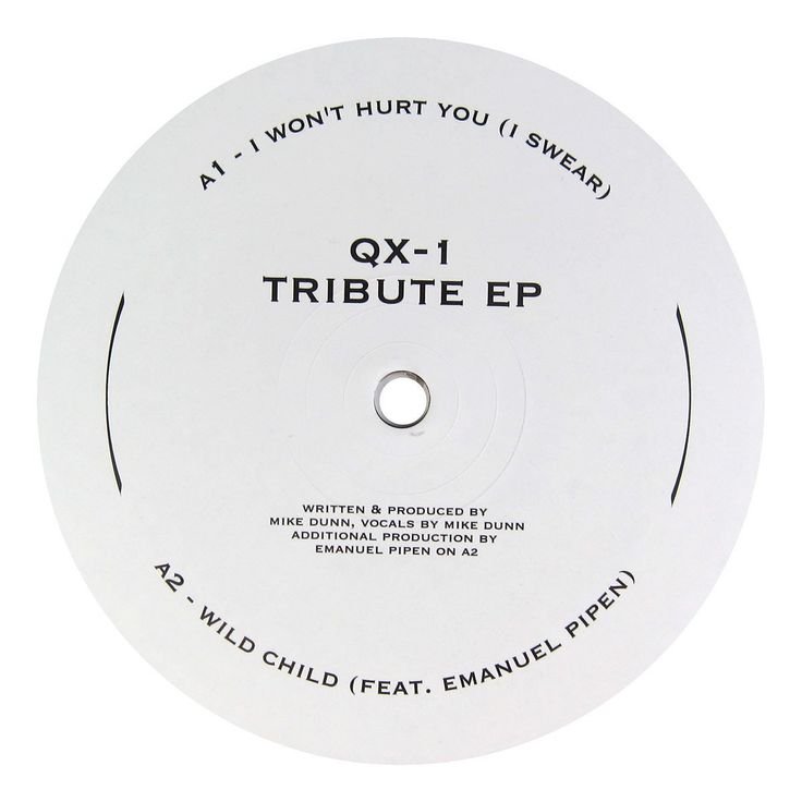 "QX-1: Tribute EP (Mike Dunn) Vinyl 12"" – TurntableLab.com"