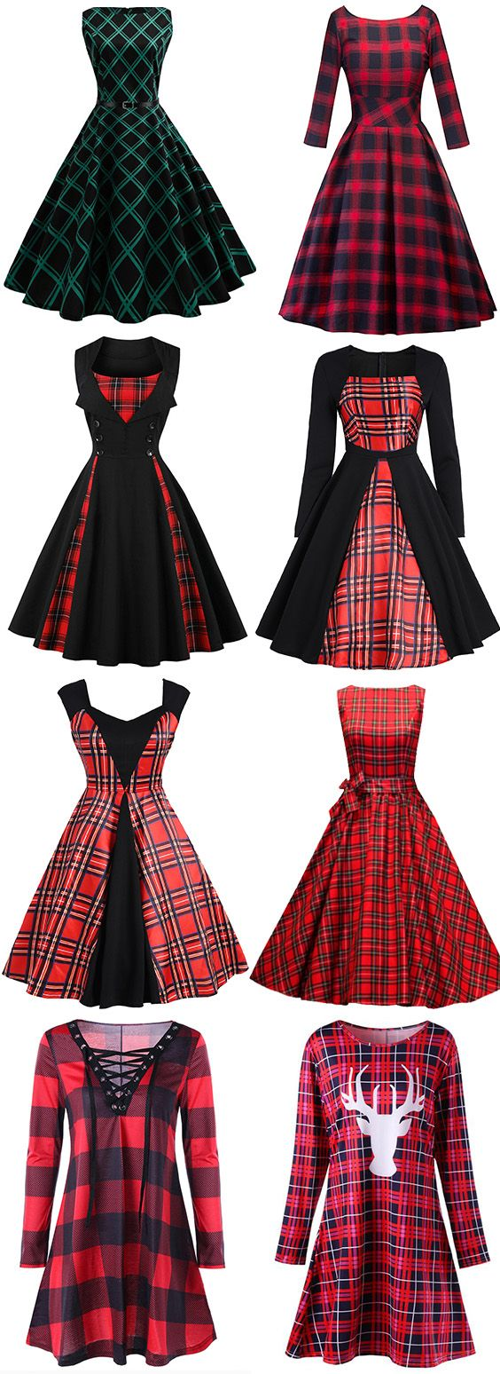 Looking for a Plaid Dress that'll work for all parties you've got coming up.50% OFF Vintage Dresses,Free Shipping Worldwide.