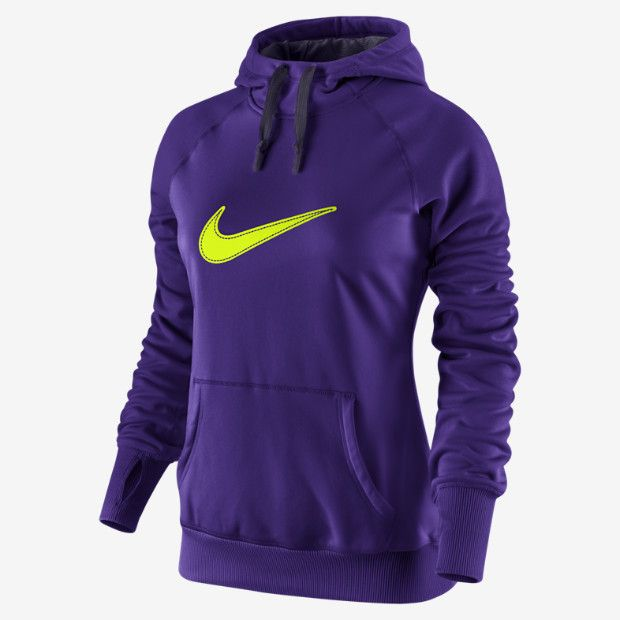 Nike Swoosh Out All Time Hoodie - Women's - Training - Clothing - Electro  Purple/Purple Dynasty/Volt