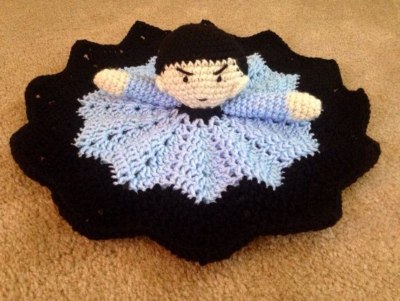 Crochet Spock Star Trek lovey security by KathrynsHandiworks