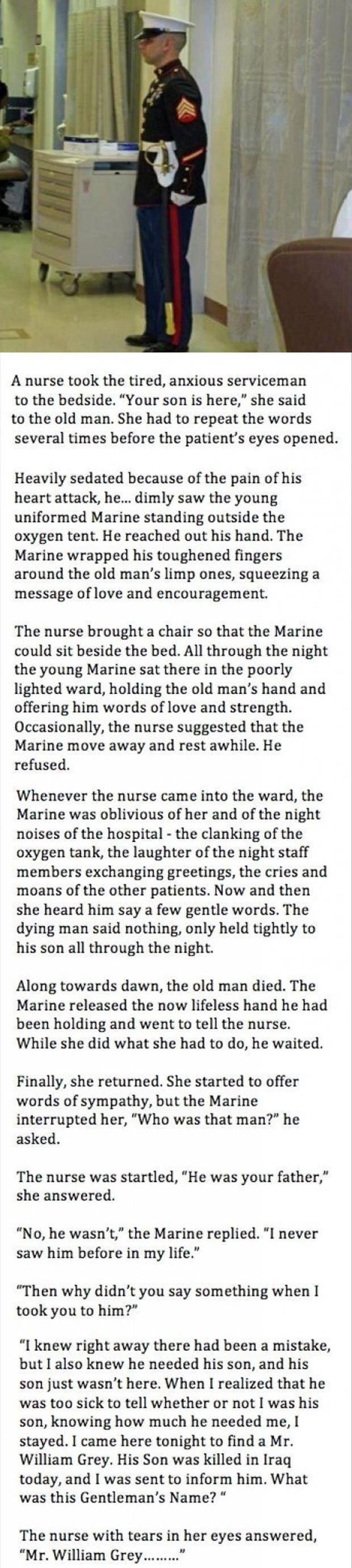 Very sad but amazing all at the same time... I wish all people in this world could be as thoughtful as this man: