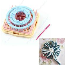 G104 grupos de 6 tamaños 9 unids hilados Craft hacedor de las borlas de flores telar KitFree mayor del envío / al por menor(China (Mainland))