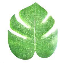 12 stks 20x18 cm Kunstmatige Tropische Palm Bladeren Simulatie Leaf Voor Hawaiiaanse Luau Party Jungle Strand Thema Party decoraties(China (Mainland))