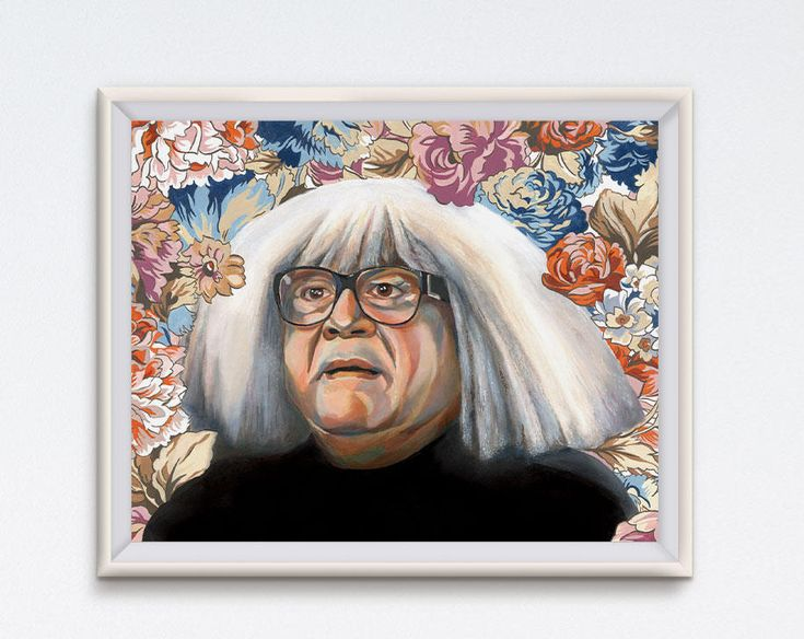 Frank Oil Painting Danny Devito Art Print It S Etsy Funny Art Prints Floral Painting Funny Art