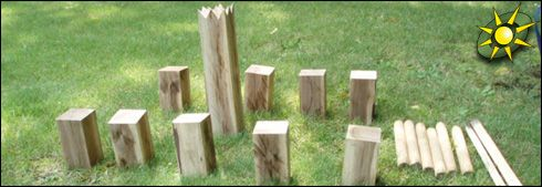 Kubb Game :: Outdoor Game Players