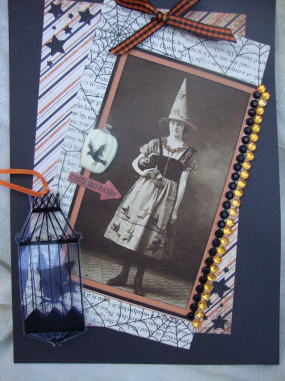 Spooky Halloween Witch Card by AshbrookeSalutations on Etsy, $5.50