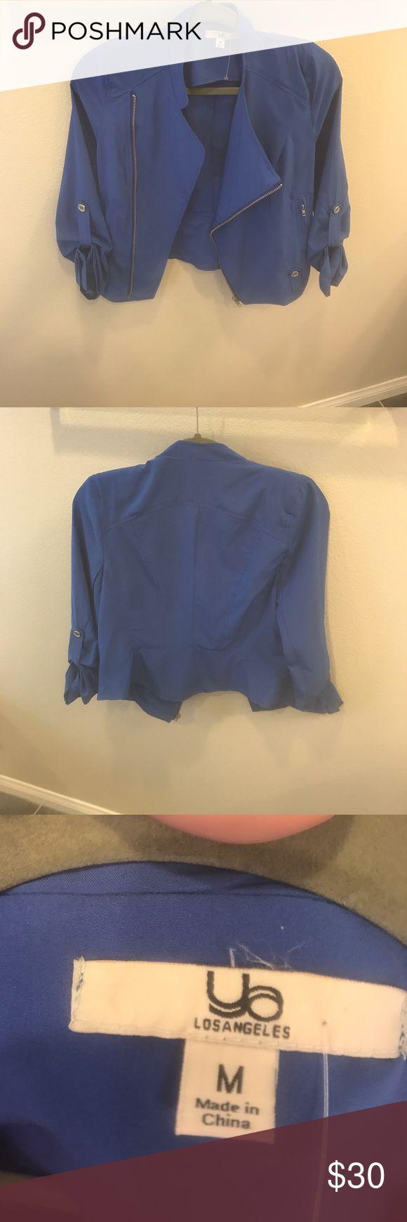 Royal Blue Motorcycle Jacket Royal Blue Motor Cycle Jacket. Asymmetrical front zipper. Jackets & Coats Blazers