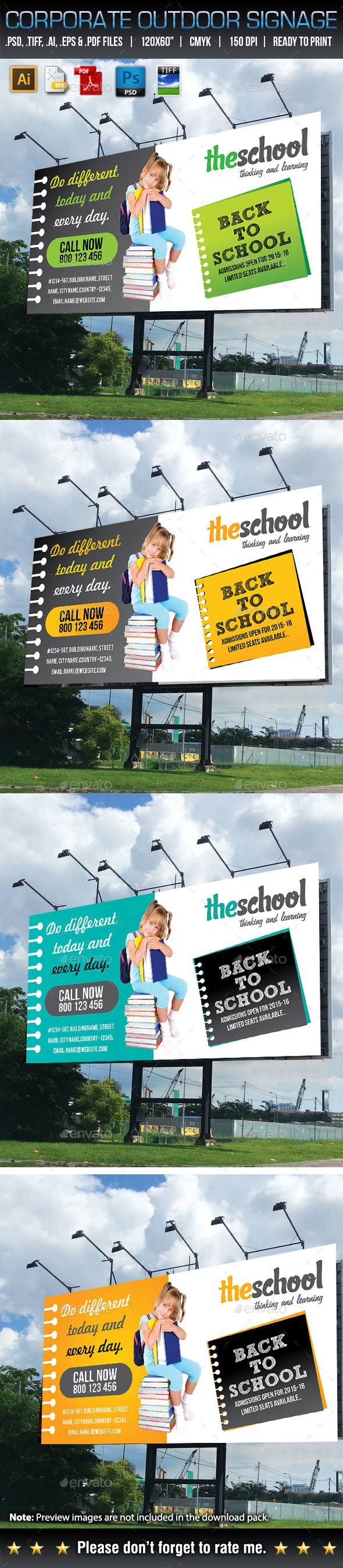 Design large banner in illustrator - Corporate Business Billboard Template Design Download Http Graphicriver Net