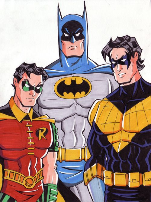 Batman, Robin and Nightwing