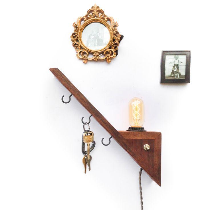 Floating Shelf Edison Lamp