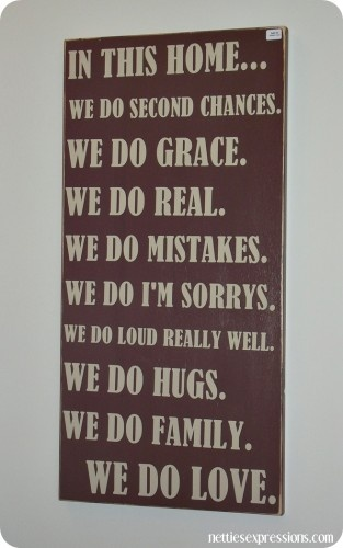In this Home - wood wall hanging