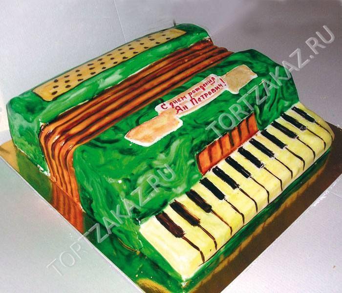 """Юбилейный торт """"Торт аккордеон на день рождения"""" U0048 Юбилейные торты. Торт юбилейный, торты на заказ юбилейные, юбилейные торт"""
