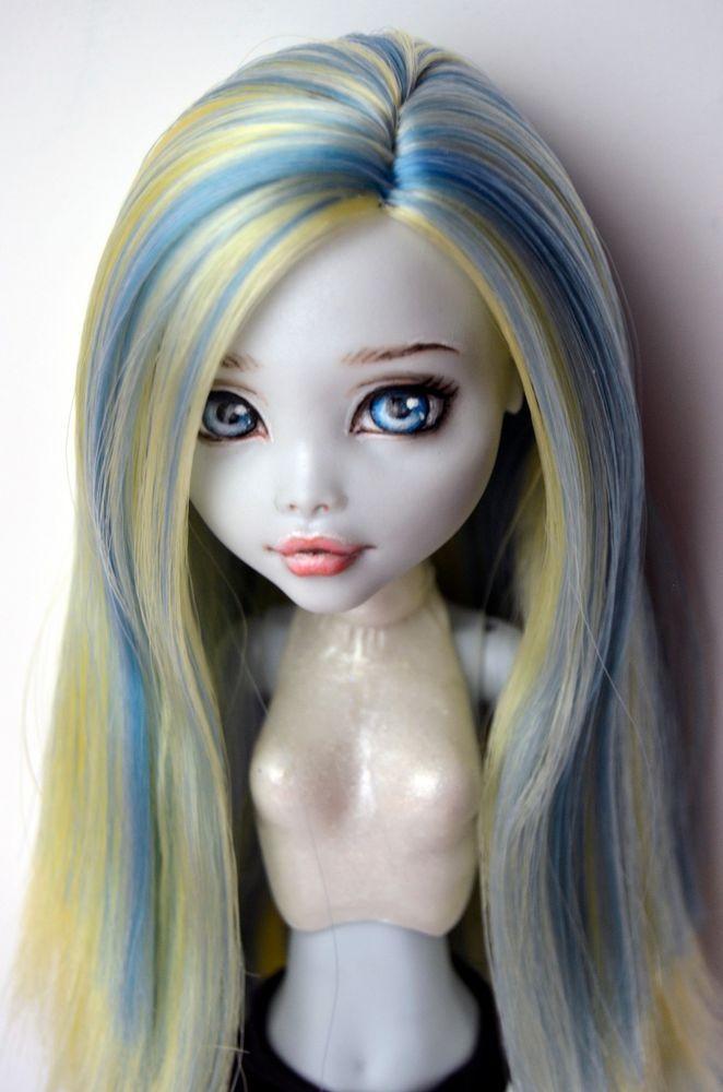 Monster High Doll repaint custom Laguna Blue OOAK by Lana Sangina