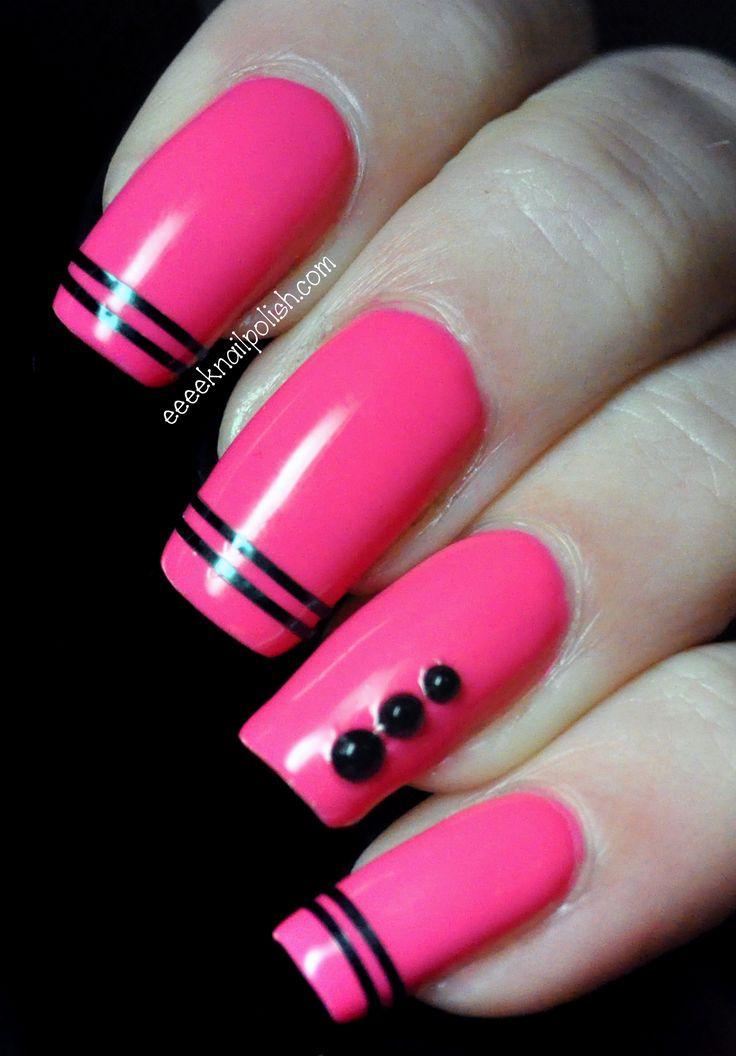 Hot Pink Nail Art ❤