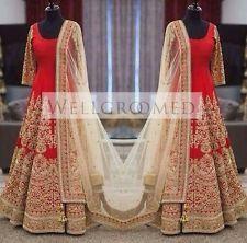 Designer Wear Gorgeous Bangalore Silk Heavy Bridal Anarkali Suit