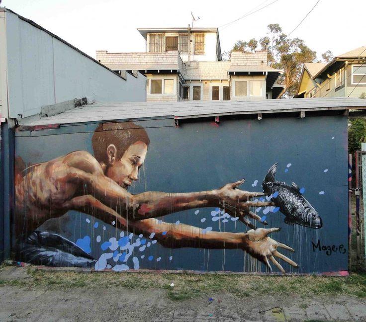 Best Dope Street Art Images On Pinterest Abandoned Graffiti - Artist paints incredible seaside murals balanced on surfboard
