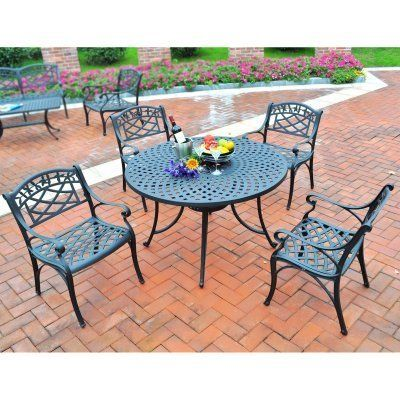 Crosley Sedona 42 in. 5 Piece Cast Aluminum Outdoor Dining Set with Arm Chairs by Modern Marketing Concepts Inc. $849.99. Every patio needs a good set of furniture. Specifically, the Crosley Sedona 42 in. 5 Piece Cast Aluminum Outdoor Dining Set with Arm Chairs is the set for you. This durable cast aluminum table is finely constructed for years of use, with adjustable levelers on the legs for convenient customization. The chairs are exceptionally comfortable, thanks to contoured...