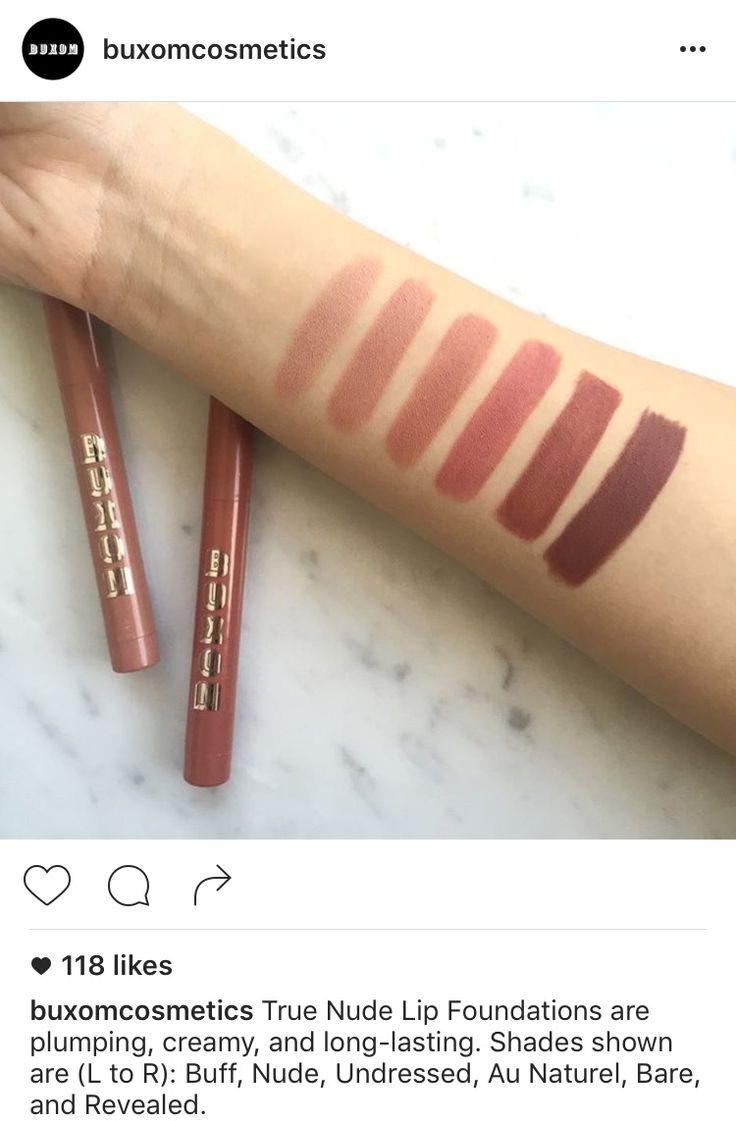 Buxom True Nude Lip Foundations #buxom #lips #lipstick
