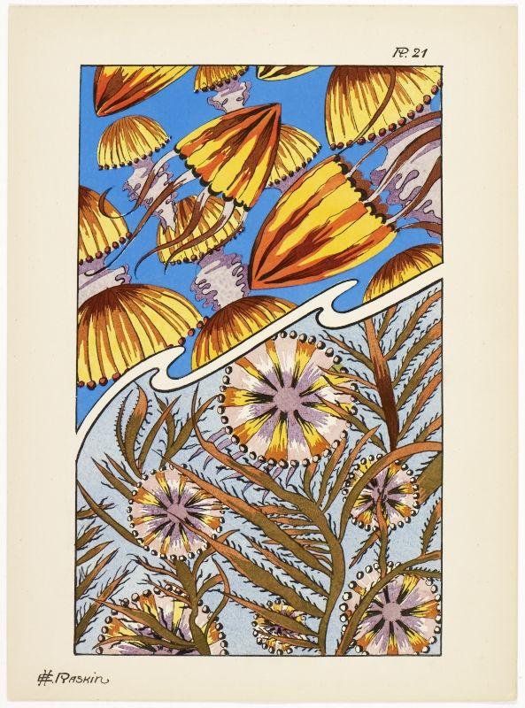 Fantaisies oceanographiques en 25 planches en couleurs' by E.H. Raskin. Published 1924 by F. Dumas