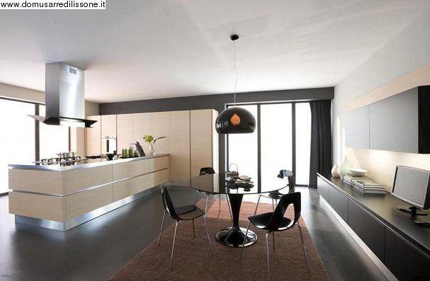 Oyster decorativo con zona living Veneta Cucine | Arredamento ...